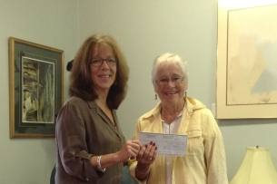 Cheque Presentation September 2014 Cropped