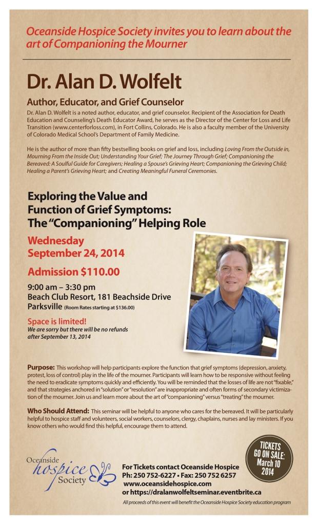 Dr Alan D. Wolfelt - Oceanside Hospice Society