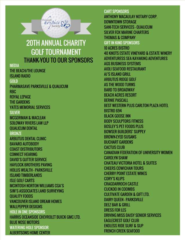 20th Annual OHS Charity Golf Tournament Poster (3)
